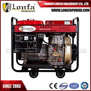 6kVA 전기 디젤 엔진 발전기 휴대용 Kama 엔진 디젤 엔진 발전기 가격