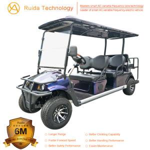 4+2 Seater Vierradscheibenbremse-nachladbare Batterie-elektrische Golf-Karre