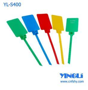 400mm de plástico polipropileno Precinto de seguridad con la etiqueta (YL-S400)