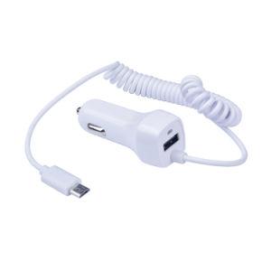 Blanco solo USB Cargador de coche con Micro para Samsung