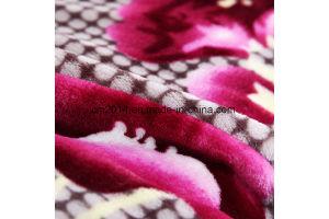 100% بوليستر فائقة ليّنة يطبع تصميم فانل صوف غطاء