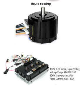 72V refrigerado por agua CC de 10kw motor del coche eléctrico, moto, coche eléctrico el Kit de conversión