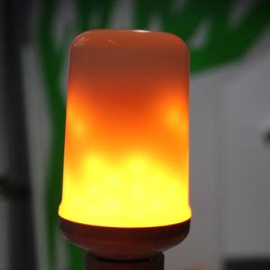 Efeito do fogo a luz da lâmpada LED 5W E26 E27 Luz de chamas