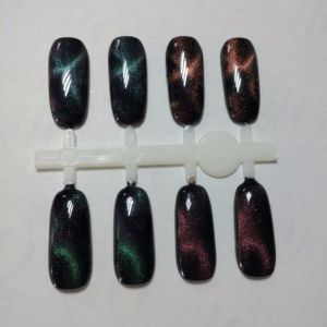 3Dキャッツ・アイの魔法のきらめきの塵の紫外線ゲルの釘の芸術の顔料