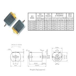 Micro Motor dc de imán permanente para coches de juguete/Robert
