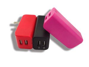 Colores personalizados nosotros Universal Plug Dual USB Adaptador de viaje cargador de teléfono móvil