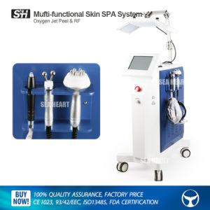 4en1 la cáscara de chorro de oxígeno de la máquina con la terapia de luz LED