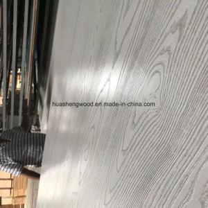 Белый Ash/ белый цвет зерна из дуба меламина ламинированной фанеры