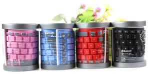 Suave y resistente al agua Bluetooth Teclado de silicona flexible
