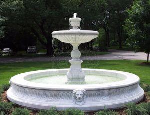 Escultura de pedra de granito e mármore natural Water Garden Estátua decorativas Trevi