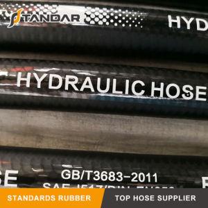 Slang van de Hoge druk van En856 R13 de Zwarte Hydraulische Rubber voor Olieveld