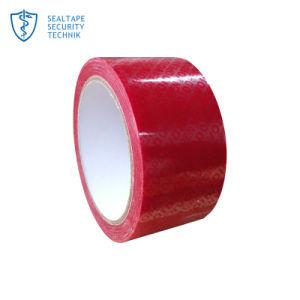 赤いペット防水ゴム製自己のAdhesivプリント荷箱のカートン密封ボイド開いたテープ