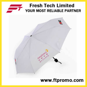 관례 3 스크린 인쇄를 가진 접히는 설명서 열려있는 우산