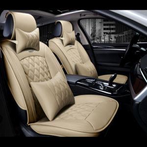 Binnenlandse auto-Stileert van de Toebehoren van de Auto's van het Kussen van de Dekking van de Zetel van het Leer van de Dekking Pu van de Zetel van de Auto van de Rand van de luxe 3D Volledige Universele