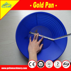 El lavado de oro de alta calidad de pan de oro de plástico con profunda Riffles