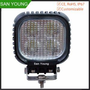 Feu de travail CREE LED 48W 4 pouces pour chariot élévateur à fourche phare de travail d'utilisation de travail