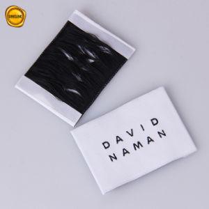 Sinicline Super White etiqueta tejida de alta densidad para la ropa