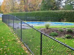 Galvanizado recubierto de polvo de poliéster de eslabón de la cadena de vallas para piscina Awimming