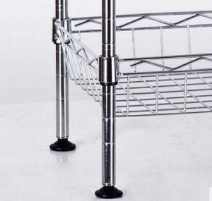 Cesta de la cocina de metal cromado regulable rejilla de alambre fabricante