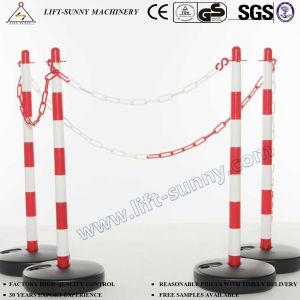 El tráfico de plástico de la cadena de seguridad de advertencia de la cadena de la barrera de carretera