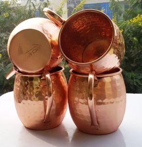 300ml 500mlの銅の飲料水のガラスコップのタンブラーのマグのAyurvedaの健康のヨガ