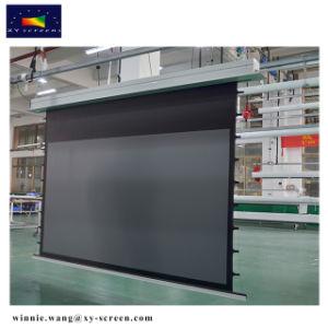 Xy экранов 90 дюйма 16: 9 скрытых потолочного крепления экран проектора с электроприводом