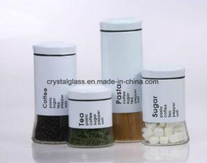 Glaszuckerkaffee-Tee-Verpackungs-Glas mit Edelstahl-Beschichtung