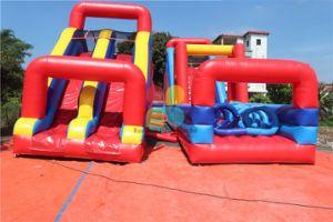 Parcours à obstacles gonflables énorme pour la vente commerciale Obstacle gonflable Cours pour adultes