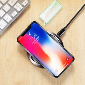 2018 Nuevo diseño ultra delgado aleación de aluminio de Qi de carga cargador inalámbrico para el teléfono