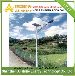 integriertes/getrenntes Solargarten-Yard-Straßenlaterneder im Freienbeleuchtung-60W halb