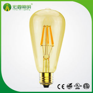 Lampadina dell'indicatore luminoso del filamento di St64 E27 2With4With6With8W Edistion LED