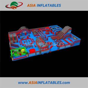 Comercial gigante Gorila Deslice el juego interior del parque Inflatabletheme combinado