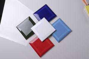 Jla Metro blanco brillante de ladrillo biselada Complementos de baño Azulejos de cerámica de ladrillo de 15X15, azulejos y accesorios