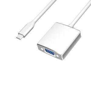 2018 Chipset USB 3.1 Mannetje type-C USB aan VGA Vrouwelijke Adapter