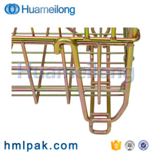 折りたたみ安い4つの車輪が付いている金属によって溶接される金網の大箱
