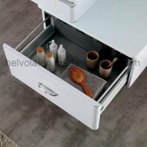 Gesundheitlicher Ware-Badezimmer-Bassin-Zubehör-Schrank-Badezimmer-Möbel-festes Holz Kurbelgehäuse-BelüftungMDF mit Spiegel-Edelstahl-Badezimmer-Eitelkeit 9