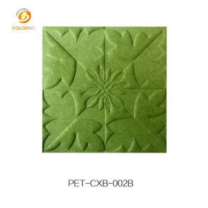 Schönes Oberflächenmuster geprägtes Polyester-Faser-akustisches Panel