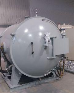Operação segura pó de grafite Graphitization forno a vácuo de aquecimento por indução