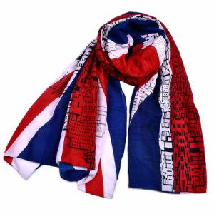Involucri blu di Hijab della bandierina delle sciarpe delle donne degli scialli britannici del Regno Unito