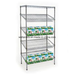 Le renforcement de l'affichage Chrome Heavy Duty unité de rayonnages pour supermarché
