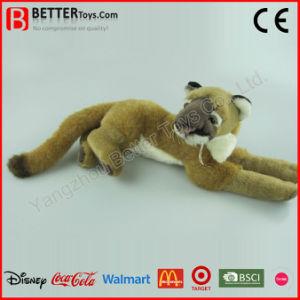 Giocattolo molle del leone dell'animale farcito di ASTM del puma realistico della peluche