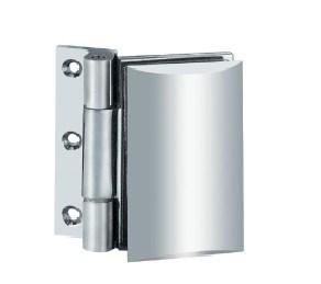 Glace à la charnière de porte en verre de douche