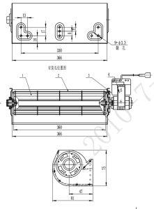 190mm AC Ascensor Extractor ventilador cruzado Polo sombreado Motor del ventilador de refrigeración/horno Spoiler/ calefacción Ventilador de inducción