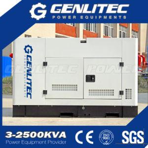Wassergekühlter 2 Zylinder-leiser Typ Dieselgenerator-Set 16kw 20kVA