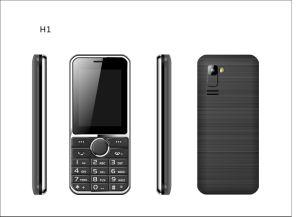 O logotipo personalizado feito 2,4 polegada duplo SIM Recurso barato telemóvel Telemóvel Sênior C23