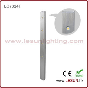 Het zilveren/Zwarte 4W LEIDENE Licht van de Vitrine voor het Kabinet LC7324t van Juwelen
