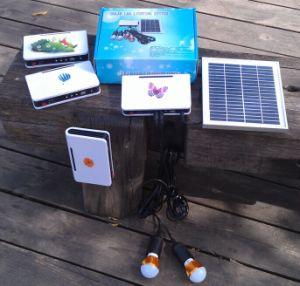 2pcs 2W de luz LED Solar Sistema de kits de iluminación Inicio Habitaciones