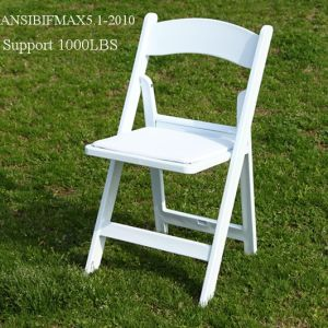 Caterer를 위한 Outdoo White 정원 Plastic Resin Folding Chair
