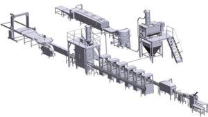 Автоматическое заполнение сухого молока в канистры Seaming производственной линии