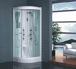La nueva cabina de ducha ducha de esquina con puerta corrediza de vidrio